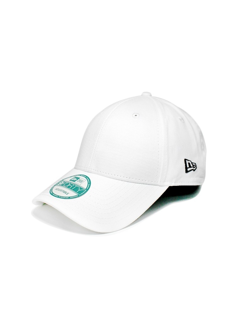 New Era 9Forty - Casquette 940 Basic Blanche Incurvée