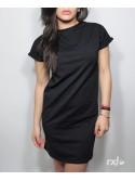RXL Paris - Tshirt Long Oversize Femme Noir