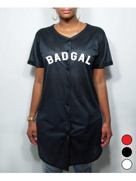 3 Colors Long Shirt Mesh Baseball BadGal - RXL Paris