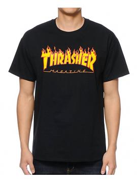 Thrasher - Flame Logo Tee in Black