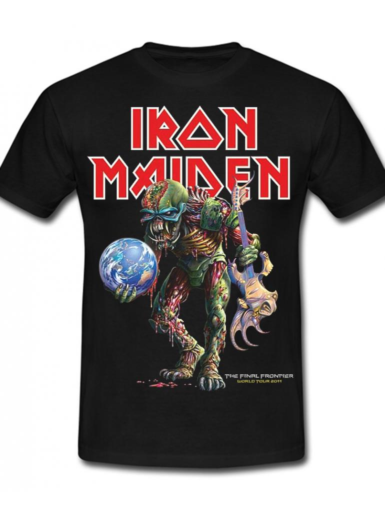 Iron Maiden The Final Frontier Tee in Black