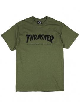 Thrasher - Thrasher Magazine Logo Tee in Army Green