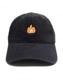 Fire Emoji Casquette Dad Noir