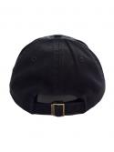 Fire Emoji Dad Hat in Black