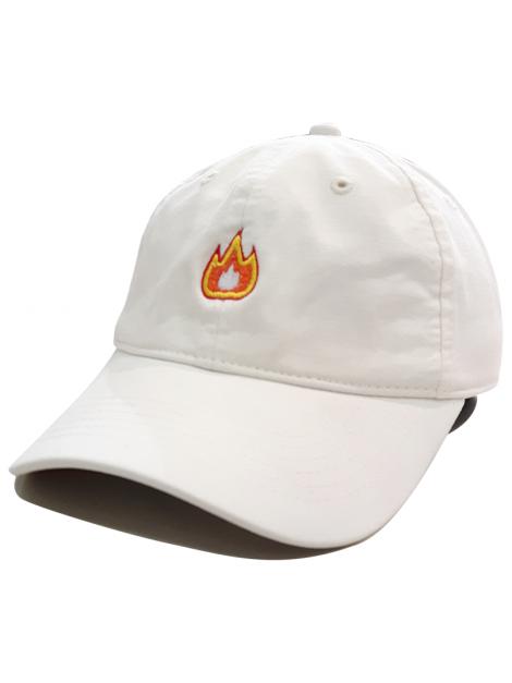 Fire Emoji Casquette Dad Blanc