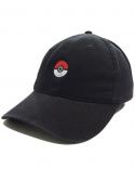 Pokeball Dad Hat in Black