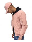 DS LINE X Canvas And Colors Bomber Suede Rose Pastel