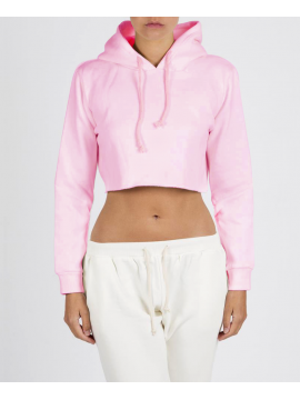 RXL - Crop Top Sweat A Capuche Rose Pastel