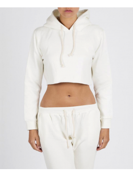 RXL - Crop Top Sweat Court Blanc