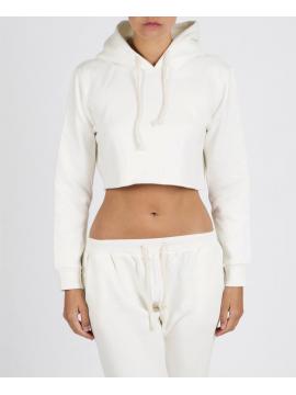 RXL - Crop Top Sweat Court Blanc