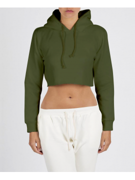 RXL - Crop Top Sweat A Capuche Kaki