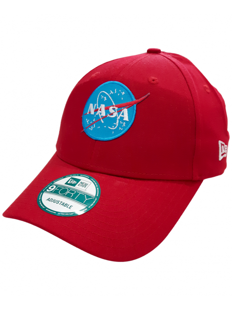 New Era 9Forty NASA Embroidered Patch Dad Hat Red