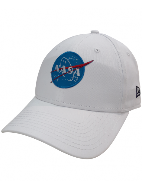 New Era 9Forty NASA Embroidered Patch Dad Hat White