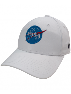 New Era Casquette 9Forty Patch Broder NASA Blanc