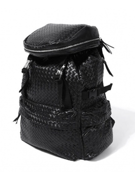 RXL Paris Woven Leather Backpack