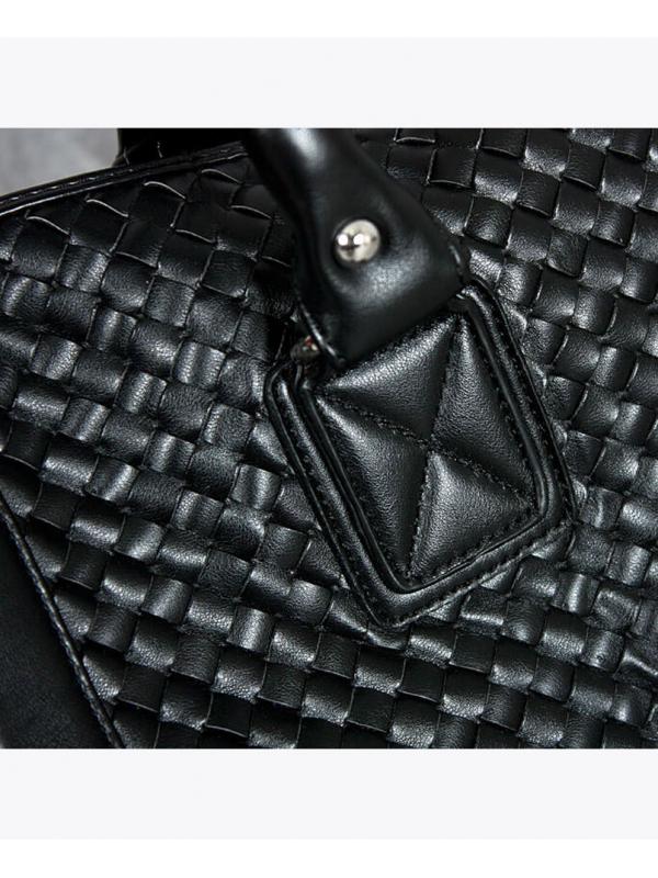 RXL Paris Woven Leather Boston Duffle Bag