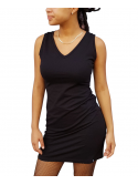 RXL Paris Short Sleeve Scoop Neck Dress Black
