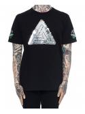 Black Pyramid Sequin Logo T-Shirt Noir