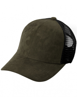 DSLINE Trucker Baseball Olive Suede / Or