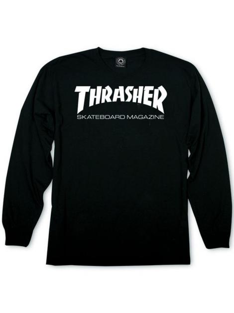 Thrasher Tshirt Manches Longues Thrasher Skate Mag Noir