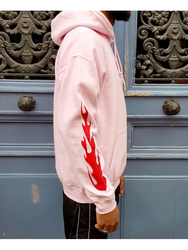 RXL Paris Rose Of The Flames Hoodie Pink