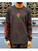 RXL Paris Rose Of The Flames Tshirt Manches Longues Noir