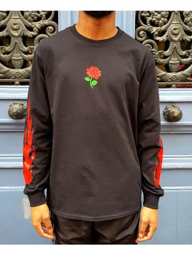 RXL Paris Rose Of The Flames T-Shirt Long Sleeve Black