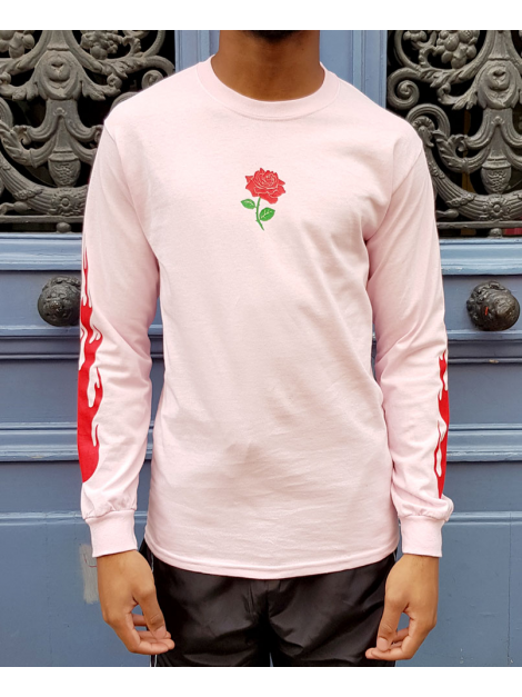 RXL Paris Rose Of The Flames Tshirt Manches Longues Rose