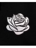 RXL Paris Rose Blanche Brodé Sweat À Capuche Noir