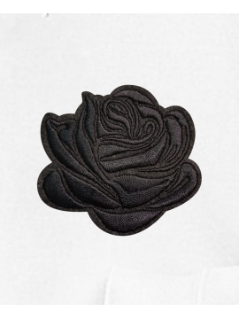 RXL Paris Black Rose Embroidered Hoodie White