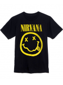 Nirvana T-Shirt Smiley Face Noir