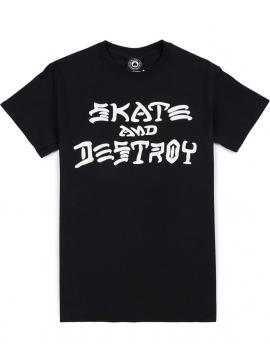 Thrasher Skate And Destroy Tee Black