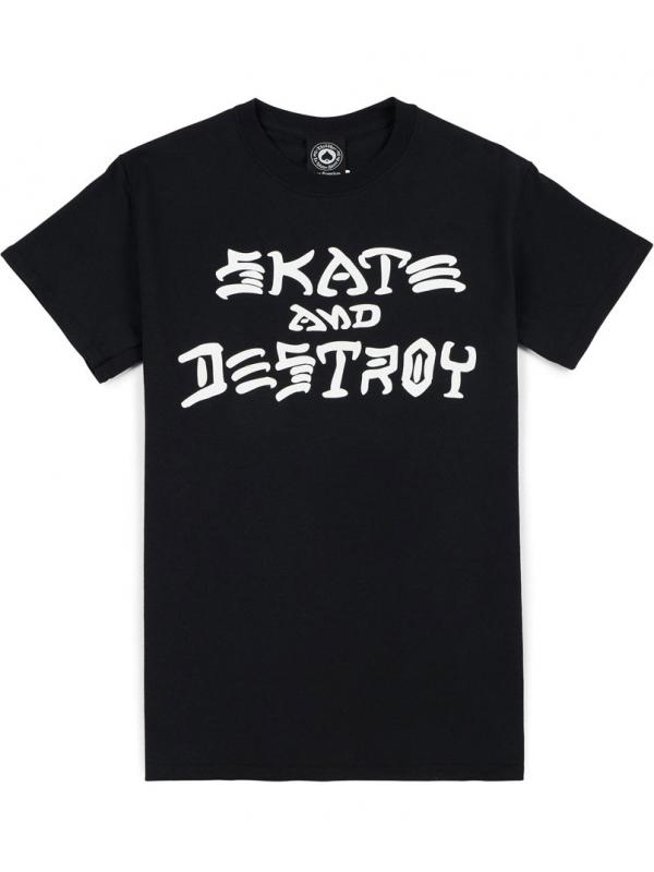 Thrasher T-Shirt Skate And Destroy Noir