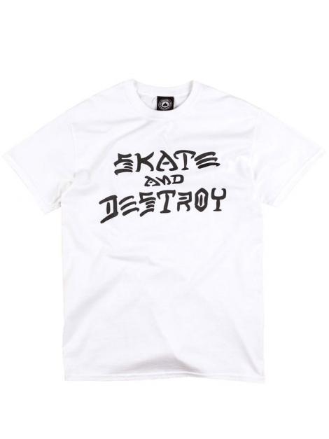 Thrasher T-Shirt Skate And Destroy Blanc