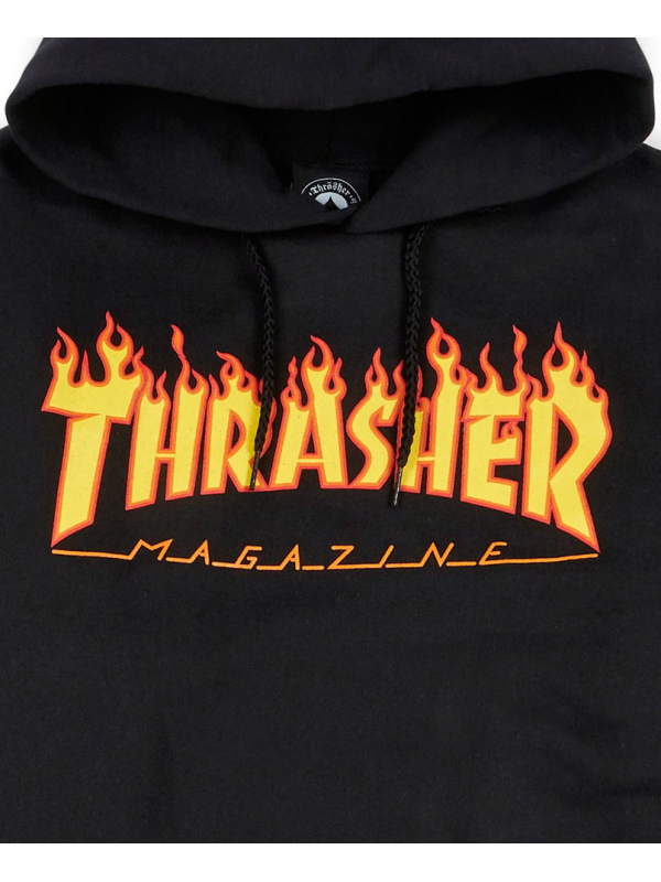 Thrasher - Flame Logo Hoodie in Black