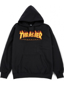 Thrasher - Flame Logo Hoodie in Black