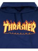 Thrasher - Flame Logo Hoodie in Navy