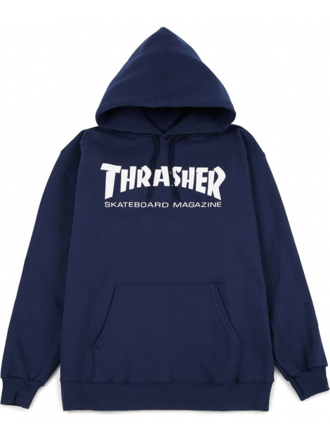 Thrasher - Skate Mag Hoodie in Navy