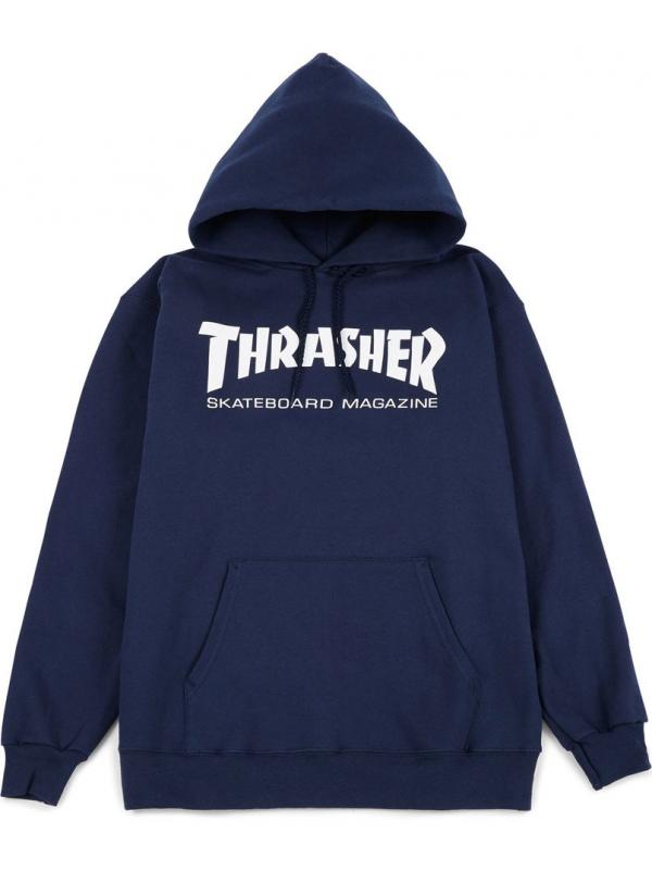 Thrasher - Sweat Capuche Skate Mag Bleu