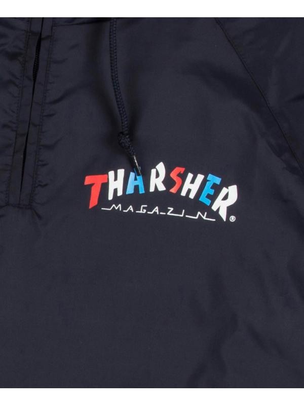 Thrasher Knock Off Pullover Anorak Jacket Navy