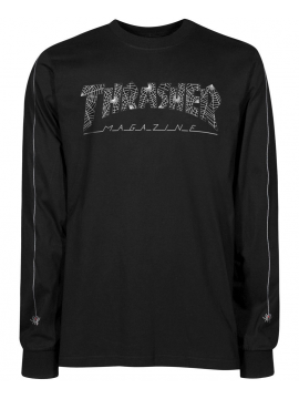 Thrasher T-Shirt Manches Web logo Longues Web Noir