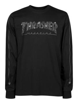 Thrasher Web logo Long Sleeve Tee Black
