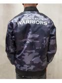 New Era Golden State Warriors Sateen Bomber Camo