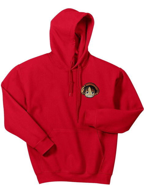 RXL Paris Luffy Embroidered Patch Hoodie Red