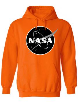 NASA Logo Imprimé Black Logo Sweat Capuche Orange