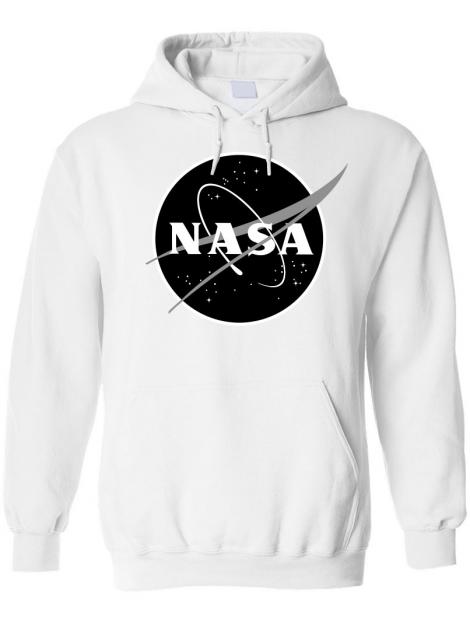 RXL Paris NASA Space Agency Black Logo Sweat À Capuche Blanc