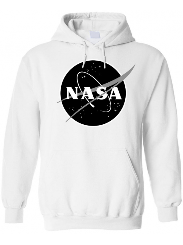 RXL Paris NASA Space Agency Black Logo Hoodie White