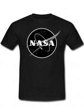 NASA Logo Printed Black Logo Tee Black