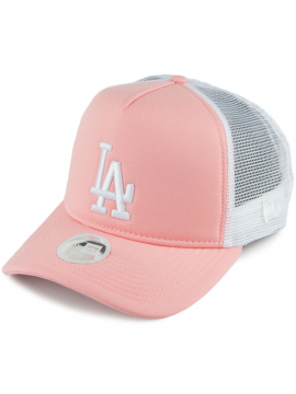 New Era - Women L.A. Dodgers League Essential Trucker Pink