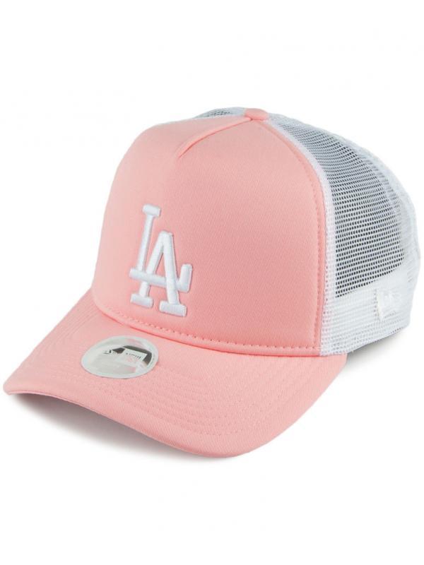 New Era Women League Essential Cap L.A. Dodgers Trucker Pink